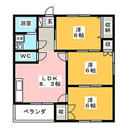 井の上アパート[1階]の間取り