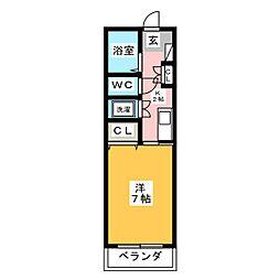 クリサンテーム21[3階]の間取り