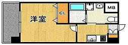 ピュアドームティアラ大手門[6階]の間取り