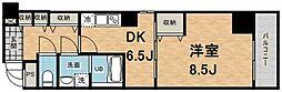 大阪府大阪市中央区南本町2丁目の賃貸マンションの間取り
