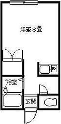 ミキハウス[207号室]の間取り