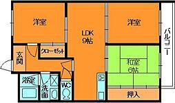 奈良県香芝市磯壁2丁目の賃貸マンションの間取り