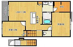 リヴェール恋町II[2階]の間取り