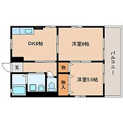 静岡県静岡市駿河区下川原の賃貸アパートの間取り