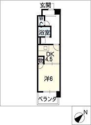 グランデール八筋[2階]の間取り