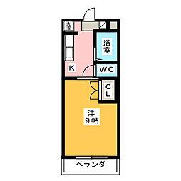 マンションリーフIII[1階]の間取り