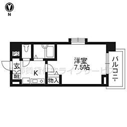 De'lead烏丸西204[2階]の間取り