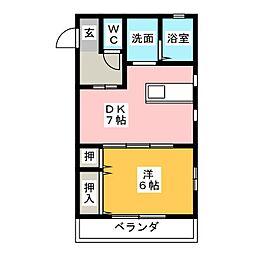 リヨン[2階]の間取り