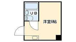 大阪府大阪市城東区蒲生3丁目の賃貸マンションの間取り