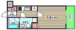 セイワパレス福島駅前 5階1Kの間取り