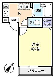 アパートメント須佐[1階]の間取り