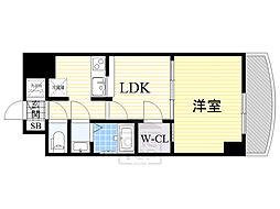 ノルデンタワー新大阪アネックス 15階1LDKの間取り