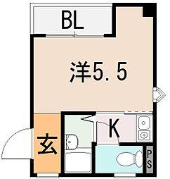 大阪府東大阪市上小阪3丁目の賃貸マンションの間取り