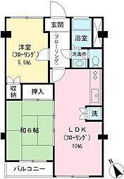 京王多摩川コーポラス[305号室]の間取り