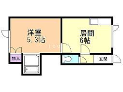 パシャ41 1階1DKの間取り