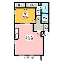CASA KITANAGOYA[3階]の間取り