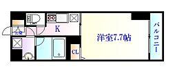 JR仙山線 東北福祉大前駅 徒歩13分の賃貸マンション 6階1Kの間取り
