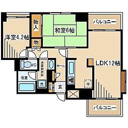 東京都府中市宮西町2丁目の賃貸マンションの間取り