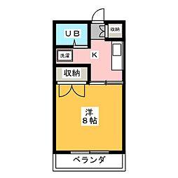 第3西沢ハイツ[3階]の間取り