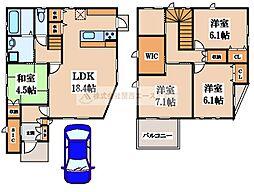 [一戸建] 大阪府堺市東区菩提町2丁 の賃貸【/】の間取り