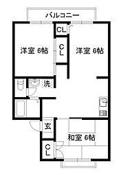 アメニティ45[1階]の間取り