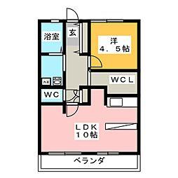 メゾン・ド・サローネ[2階]の間取り