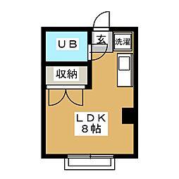 メゾンサンホアン[1階]の間取り
