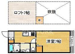 ロフティ西ノ京[101号室号室]の間取り