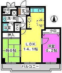 ガーデンコート大濠[5階]の間取り