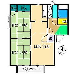 ファミリータウン西川 B棟[1階]の間取り
