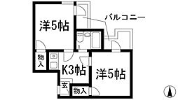 ドムス鉢塚[5階]の間取り