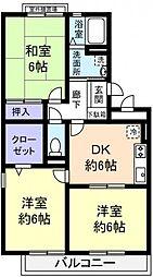 ハイローズ船橋弐番館[2階]の間取り