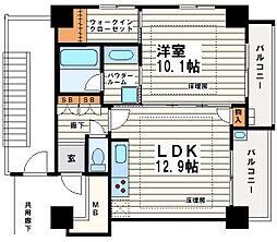 松屋タワー[11階]の間取り