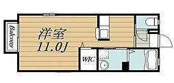 JR内房線 五井駅 徒歩11分の賃貸アパート 1階ワンルームの間取り