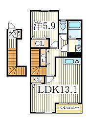 エールトベーレ[2階]の間取り