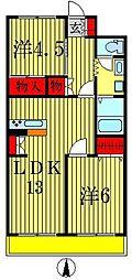 セントラルハイツ弐番館[2階]の間取り