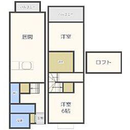 福岡県福岡市東区二又瀬の賃貸アパートの間取り