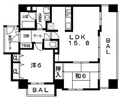 エスリード八尾東本町[201号室号室]の間取り