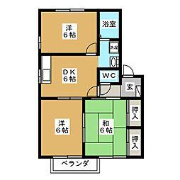 サンハイム東大垣 A[2階]の間取り