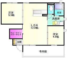 グランマミサキ[1階]の間取り