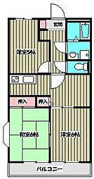 カサベルテ[3階]の間取り