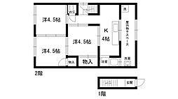 荒石アパート[2階]の間取り