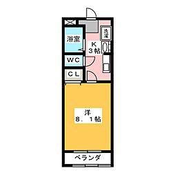 コスタリカ有松[2階]の間取り