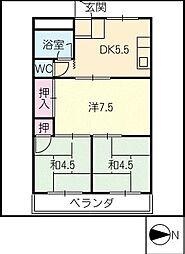 カトーコーポ[3階]の間取り