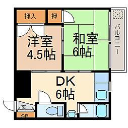 岩田マンション[502号室]の間取り