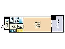ソレアード薬院[6階]の間取り