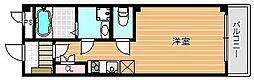 京成本線 お花茶屋駅 徒歩4分の賃貸マンション 1階1Kの間取り