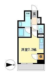 スクエア・アパートメント[5階]の間取り