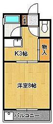 コーポ鹿田[103号室]の間取り
