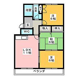 レジデンス'95[2階]の間取り